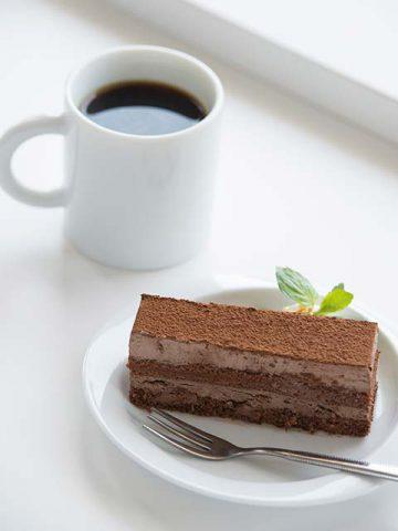 チョコレートケーキ・コーヒー
